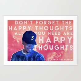 Happy Thoughts Art Print