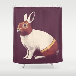 Lapin Catcheur (Rabbit Wrestler) Shower Curtain