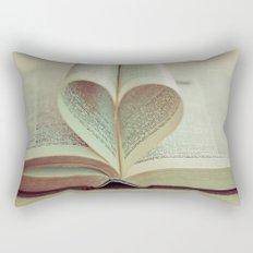 i heart books Rectangular Pillow