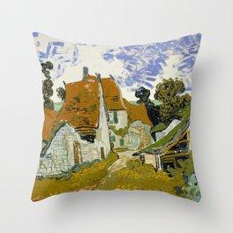 "Vincent van Gogh ""Street in Auvers-sur-Oise"" Throw Pillow"