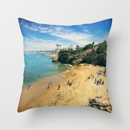 Playful Shores Throw Pillow