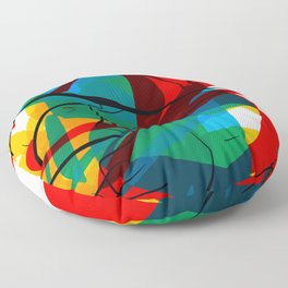 Abstract art made by Thimeo 19 months Floor Pillow