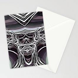 The madness is genius Stationery Cards