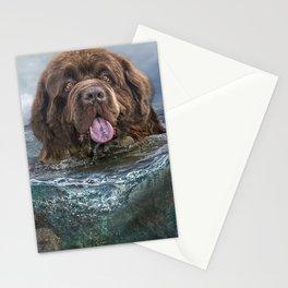 Majestic Newfoundland Dog Swimming Ultra HD Stationery Cards