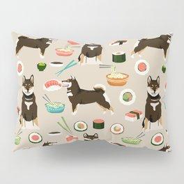 shiba inu sushi black and tan dog breed pet pattern dog mom Pillow Sham