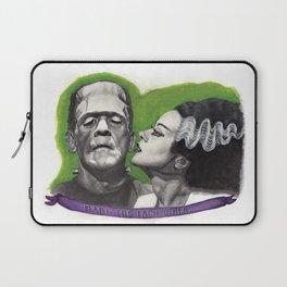 Watercolor Painting of Frankenstein & Bride Laptop Sleeve