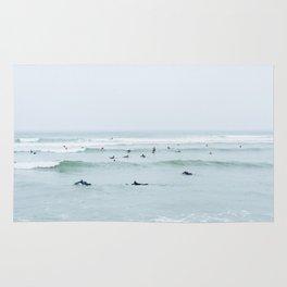 Tiny Surfers Lima, Peru Rug