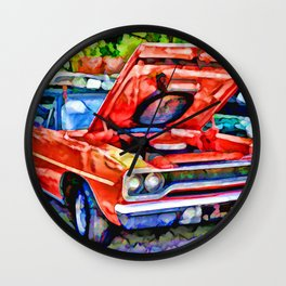 American classic car 2 Wall Clock