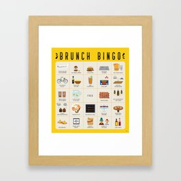 Brunch BINGO Framed Art Print