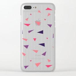 Triangles Rain #society6 #decor #buyart Clear iPhone Case