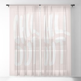 Chill Out Vintage Pink Sheer Curtain