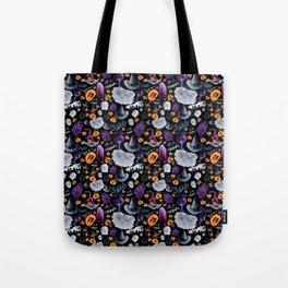 Halloween-Black Background Tote Bag