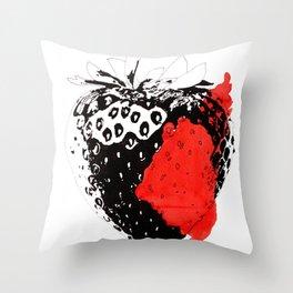 Bloody Strawberry Throw Pillow