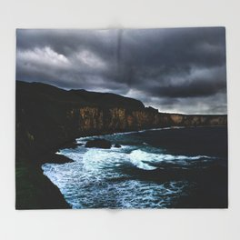 Irish Seascape Throw Blanket