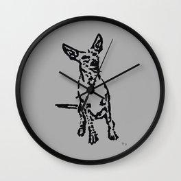 Lajka Podenco 4 Wall Clock