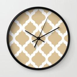 Brown rombs Wall Clock
