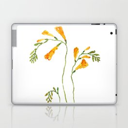 orange freesia watercolor Laptop & iPad Skin