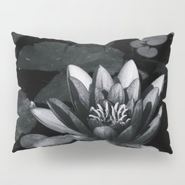 Black and white lily Pillow Sham