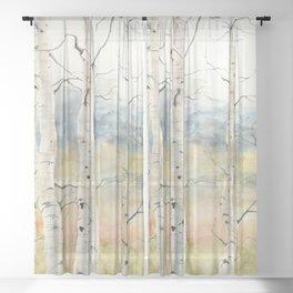Tender Birch Forest Sheer Curtain