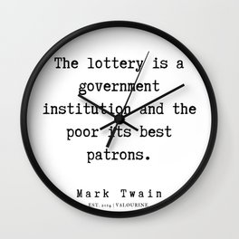 50    | Mark Twain Quotes | 190730 Wall Clock