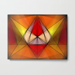 Stained  Triangulate  Metal Print