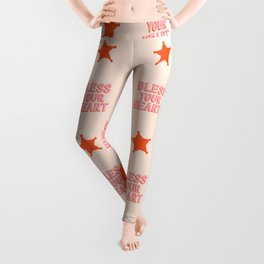 Southern Snark: Bless your heart (bright pink and orange) Leggings
