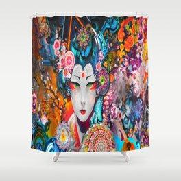 Evil Geisha  Shower Curtain