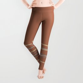 Sherwin Williams Cavern Clay Warm Terra Cotta SW 7701 with Scribble Lines Bottom in Accent Colors Leggings