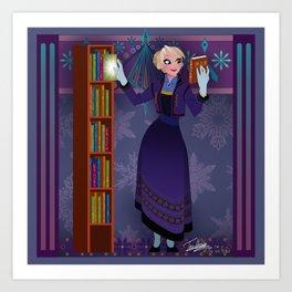 Frozen Elsa Casual Art Print