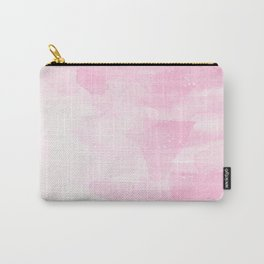 Hand painted pastel pink white watercolor brushstrokes Carry-All Pouch