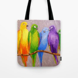 Parrots friends Tote Bag