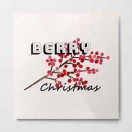 Happy berry christmas I Metal Print
