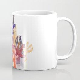 Watercolor Collage Orange Purple Coral Reef Coffee Mug