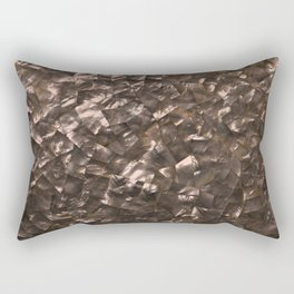 Glitter Rose Gold Shimmering Mother of Pearl Nacre Rectangular Pillow