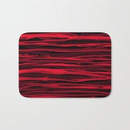 Juicy Red Apple Stripes Bath Mat