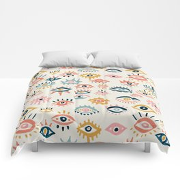Mystic Eyes – Primary Palette Comforters