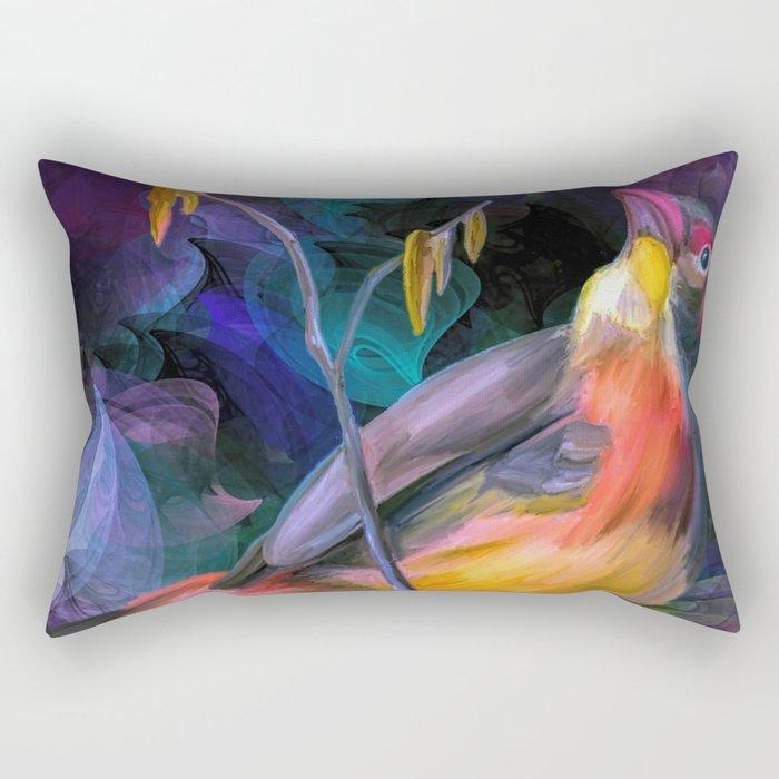 Painting of a Bird Rectangular Pillow