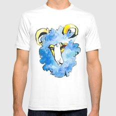 sheep Mens Fitted Tee White MEDIUM