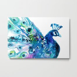 Pretty Peacock Metal Print