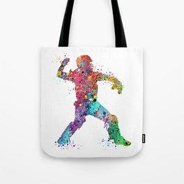 Baseball Softball Catcher 3 Art Sports Poster Tote Bag