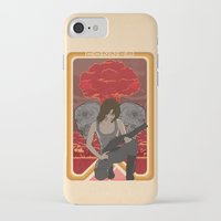 mucha iPhone & iPod Cases featuring Modern Mucha - Sarah Conner by Frank DeAngelo