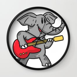 Guitar elephant Wall Clock