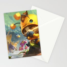 Beemo Teemo League Of Legends Stationery Cards