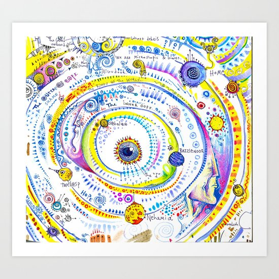 The Solar System of the Self Art Print