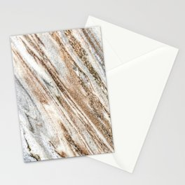 Marble Slab Texture // Gold Silver Black Gray White Stripes Luxury Rugged Rustic Rock Stationery Cards