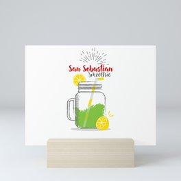 Fresh fruity drink in San Sebastian, Spain Mini Art Print