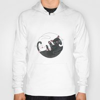 philosophy Hoodies featuring Cat Philosophy by Emily Andrus Lopuch