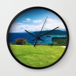 Color photo of Firefly view in Ocho Rios, Jamaica by Larry Simpson Wall Clock