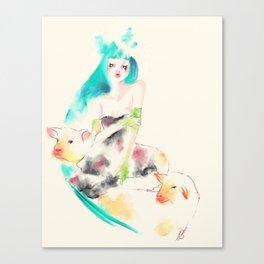 Sheeps Canvas Print