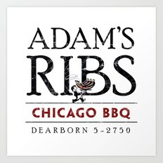 Adam's Ribs Art Print